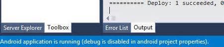xamarin android project properties stackoverflowxchanger c how can i enable debug in android project properties