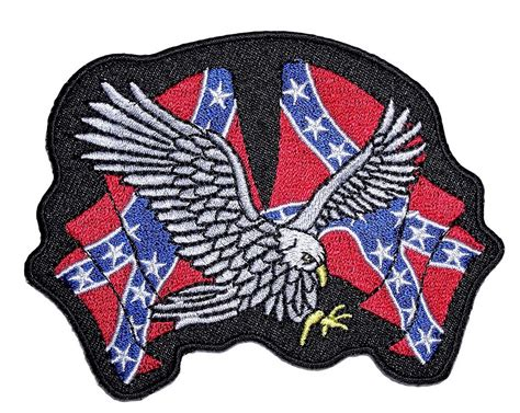 Patchwork Patches - biker patch confederate flags