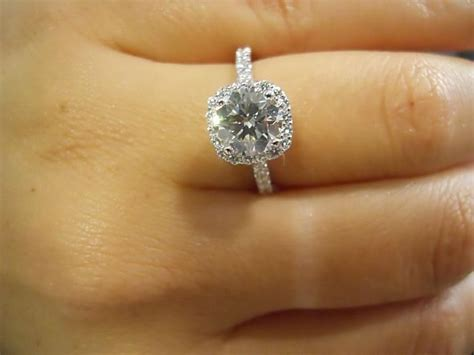 1 5 carat cushion cut micropave halo perfection for