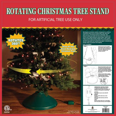 home logic rotating artificial christmas tree stand