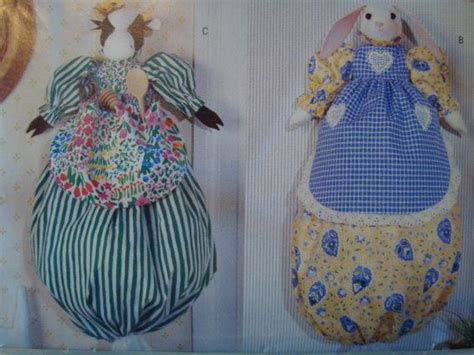 sewing pattern grocery bag animal plastic bag holder sewing pattern butterick 198