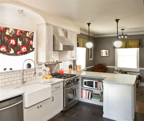 Houzz Small Kitchen Ideas by Bungalow Kitchen Renovation Craftsman Kitchen