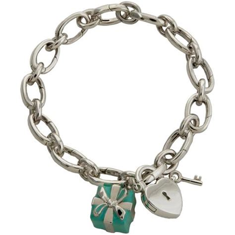 co blue box lock charm bracelet