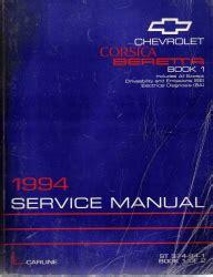 vehicle repair manual 1994 chevrolet corsica regenerative braking 1994 chevrolet corsica beretta factory service manual 2 volume set