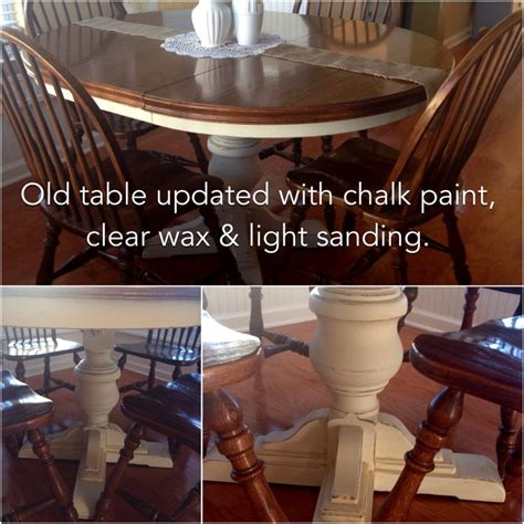 chalk paint kitchen table ideas weekend project kitchen table updated with 2 coats of