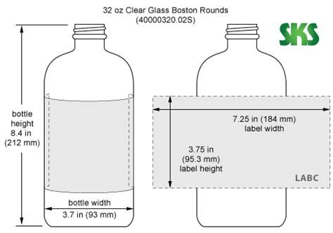 4 Oz Bottle Labels