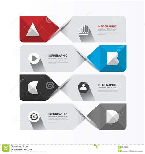 layout and graphic design modern geometric infographics design template banners