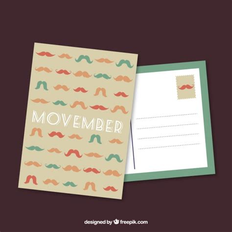 ember card template movember postcard template vector free