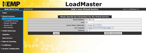 Kemp Series How To Configure An L7 Kemp Virtual Load Balancer Vlb For Exchange 2013 The Kemp Load Balancer Templates