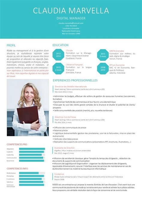 original resume templates 25 best ideas about modele de cv moderne on