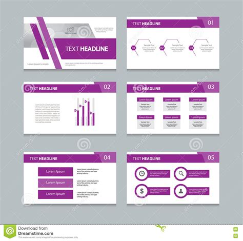 page layout for presentation page presentation layout design template stock vector