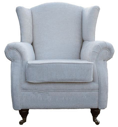 wing chair fireside high back armchair crush ivory