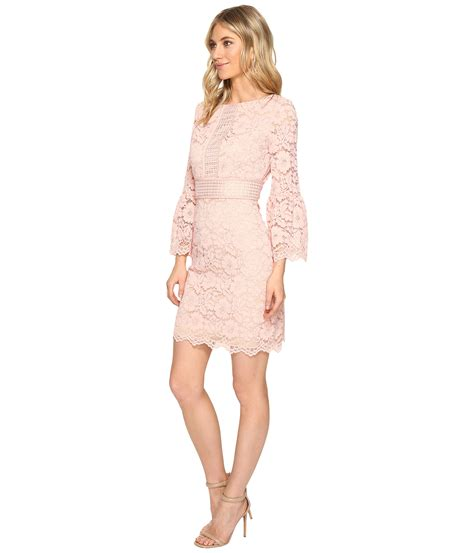 61420 Nillon Dress Size S M L vince camuto lace shift dress with bell sleeves at zappos