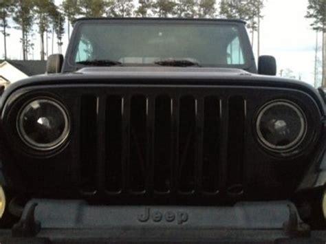 1997 Jeep Wrangler Headlights Jeep Wrangler 1997 2006 Black Halo Sealed Beam Headlight