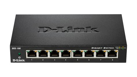 Switch Dlink 8 Port dgs 108 8 port gigabit unmanaged metal desktop switch dgs