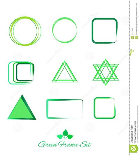 Green Logo And Icon And Frame Set Stock Vector Image 70723899 Logo Frame Template