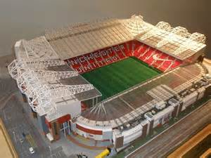 How To Make A Football Stadium Out Of Paper - model football stadiums studies trafford stadium
