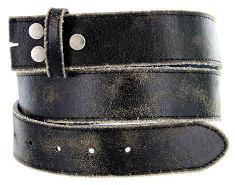 distressed cowhide leather belt 1 1 2 wide black
