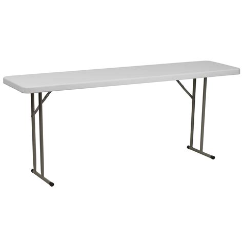 White Plastic Folding Table Flash 18 W X 72 L Granite White Plastic Folding Table By Oj Commerce Rb 1872 Gg 52 53