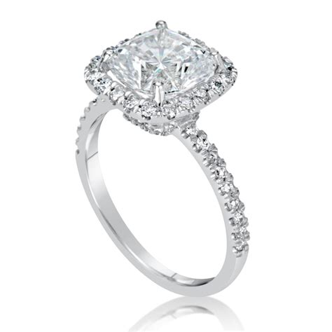 1.75 Ct Cushion Cut D/Si1 Diamond Solitaire Engagement