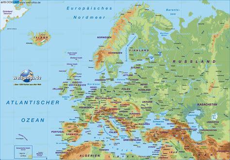 karten de karte europa 220 bersichtskarte regionen der welt