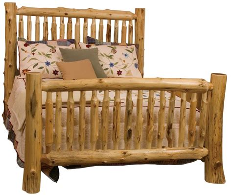 queen log bed queen small spindle log bed with hand peeled logs by