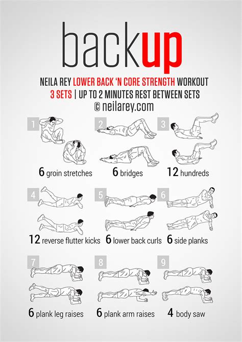 backup workout lower back and strength an entire