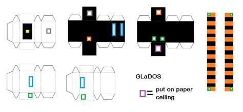 Papercraft Portal - glados portal n8 s epic minecraft board
