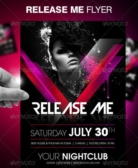 30 vibrant colorful party flyer templates web