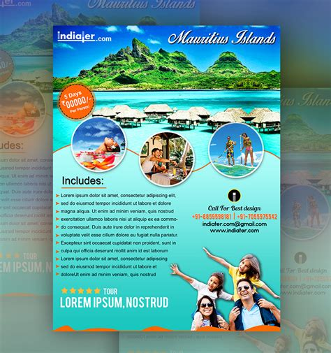 mauritius islands travel flyer template indiater