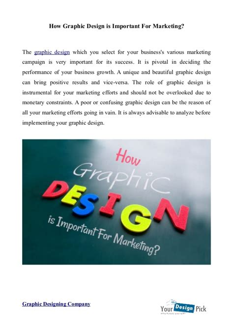 design is important importance of graphic design in marketing