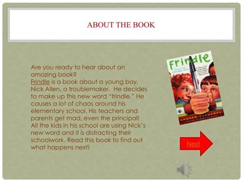 frindle book report ppt frindle powerpoint presentation id 4925011