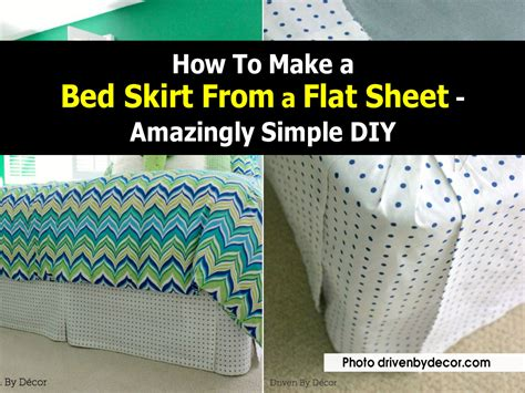 how to make a bed how to make a bed skirt from a flat sheet amazingly
