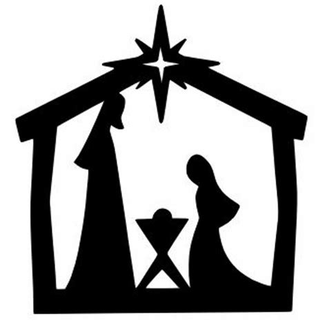 nativity silhouette coloring page silhouette printables nativity coloring pages silhouette