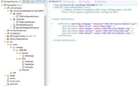 xml tutorial javatpoint tiles xml tile design ideas
