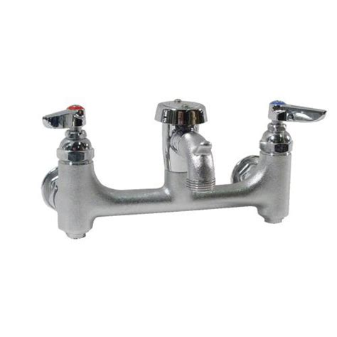 t s brass commercial kitchen faucets t s brass b 0674 bstr 8 in service sink faucet etundra