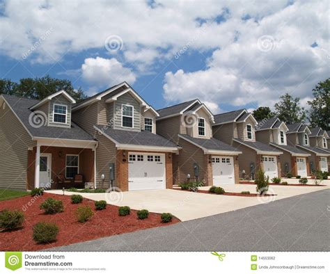 Multi Family Homes Plans low income retirement condos or complex stock photo