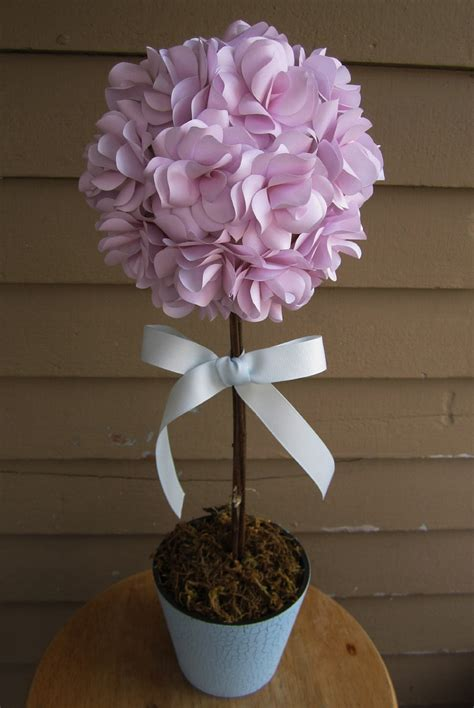 topiary centerpieces for baby shower custom paper floral topiary centerpiece ideal for baby