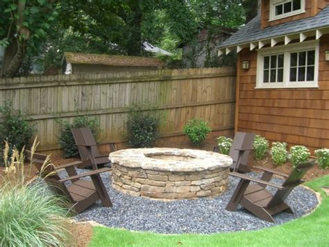 Backyard Landscaping With Fire Pit by The Collected Interior Our Diy Fire Pit