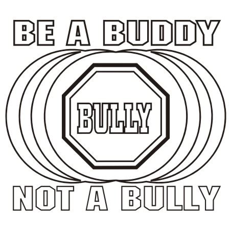 be a buddy not a bully coloring pages coloring pages
