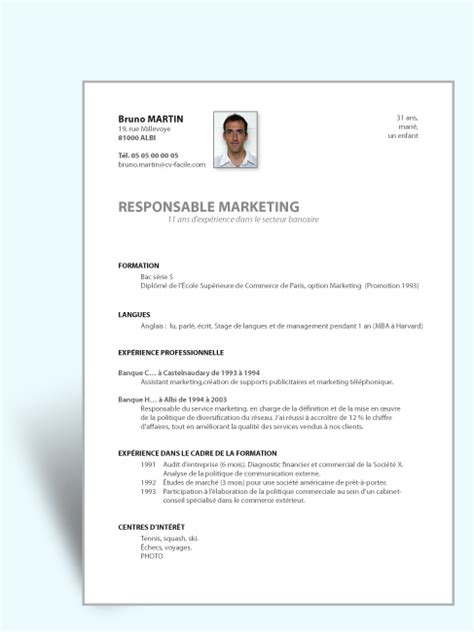 Resume Sample Model by Mod 232 Le Cv Simple Efficace Cv Original
