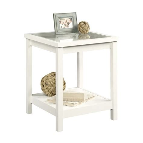 Sauder Cottage Road End Table In White 689855359206