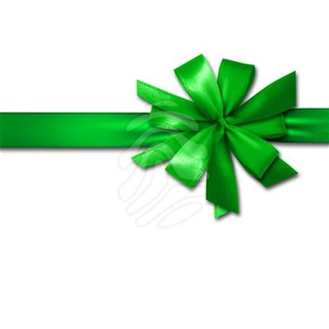 green christmas ribbon clipart