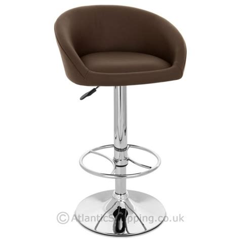Real Leather Bar Stools by Zenith Real Leather Chrome Kitchen Breakfast Bar Stool Ebay