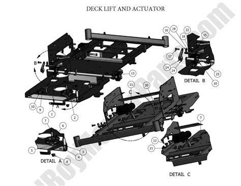 Actuator 2 Position Bed bad boy parts lookup 2011 czt deck lift actuator