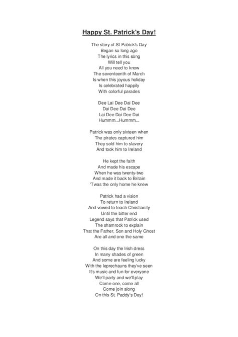 s day lyrics st s day song lyrics and translation