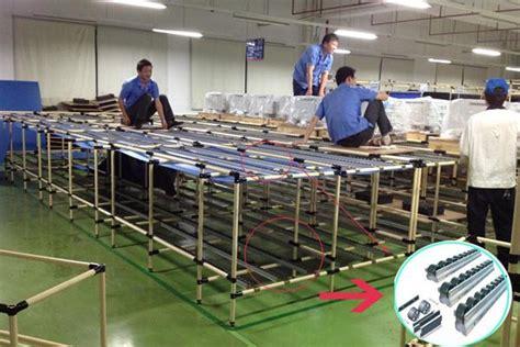 pp esd wheel conveyor roller track for fifo pipe rack