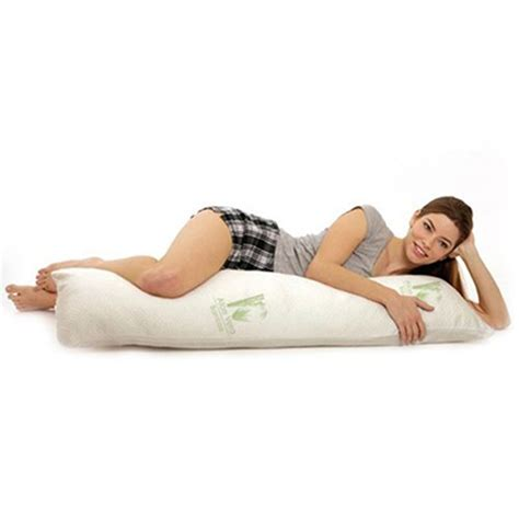 bamboo with cool comfort aloe vera bamboo essence body pillow with cool comfort