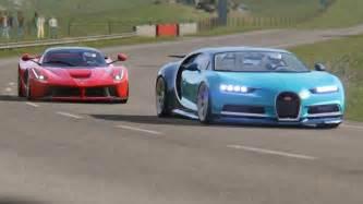 Laferrari Vs Bugatti Battle Laferrari Vs Bugatti Chiron At Highlands