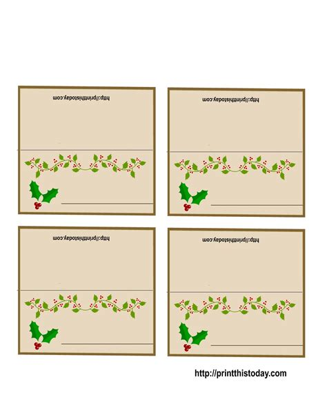 free template name card 19 printable place cards baby